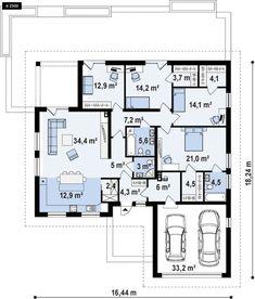 Bungalow House Design, Cottage Design, Building Design, Building A House, Piscina Interior, 4 Bedroom House Plans, Architectural House Plans, House Md, House Plans One Story