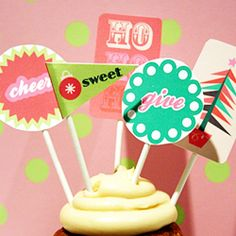 Christmas Cupcake Toppers and other food related printables.