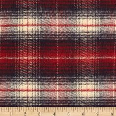 PRIMO COUNTRY SQUIRE FLANNEL PLAID 2 BLUE/RED/CREAM from @fabricdotcom  Designed for Marcus Brothers Fabrics, this soft double napped (brushed on both sides) medium weight (7.7 oz per square yard) flannel is perfect for shirts, loungewear, and more!  Remember to allow extra yardage for pattern matching.