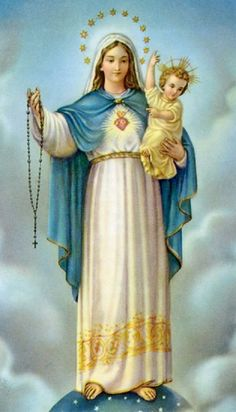 Our Lady Of The Holy Rosary Novena Prayer T his novena is to be said along with a daily rosary. Religious Images, Religious Icons, Religious Art, Rosary Novena, Novena Prayers, Rosary Prayer, Praying The Rosary, Holy Rosary, Our Lady Of Rosary
