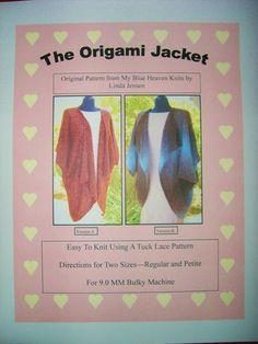 Origami Jacket - Machine Knit Pattern via Etsy