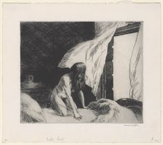 Evening Wind, 1921  Edward Hopper (American, 1882–1967)  Etching