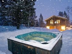 hot tub I can enjoy outside in the snow with beer =]