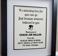 Coach gifts - Thank you Coach - Coach Quotes -  Track and Field - Track Coach - Basketball - Baseball - Cross Country - Soccer - Lacrosse