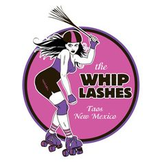 The Whip Lashes roller derby logo