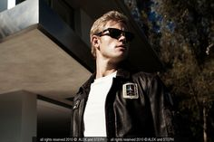Trevor Donovan by Alek and Steph outtake for Bello Magazine editorial. Trevor Donovan, Magazine Editorial, Male Models, Blond, Athlete, Mens Sunglasses, Shades, Actors, The Originals