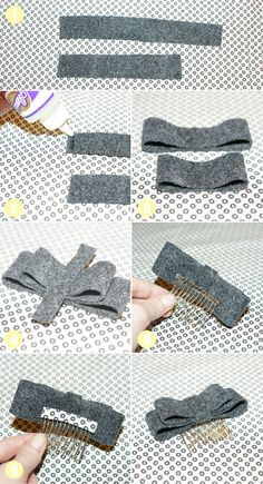 DIY Hair Bow. Very cute