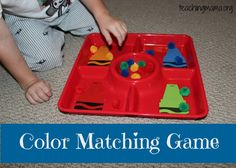 Color Matching Game [teaching mama]  Pinned by SOS Inc. Resources http://pinterest.com/sostherapy.