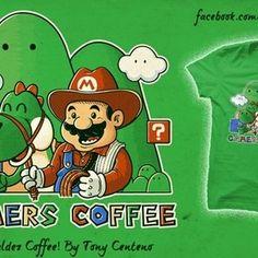 Mario Valdez Coffee Funny Tee Shirts, T Shirt, Yoshi, Mario Bros, Pop Culture, Lol, Humor, Comics, Tees