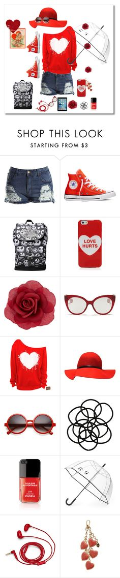 """""""love"""" by andrea2andare ❤ liked on Polyvore featuring Converse, Marc Jacobs, Accessorize, Miu Miu, Monki, Kate Spade, FOSSIL, Tod's, women's clothing and women"""