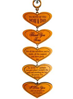Thank You Mom and Dad Gift from by GreatDecorativeCross on Etsy