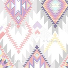 NEW PATTERN Aztec Fabric by the Yard Multi by GailWrightatHome