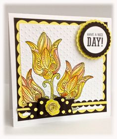 CTMH Cards - this is using the June Stamp of the Month called A Flowering Bunch. Great job on the coloring!!!