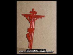 Manualidades RECICLABLES: Cristo en la cruz con papel periódico - YouTube