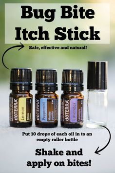 Easy homemade bug bite anti itch stick recipe using essential oils!