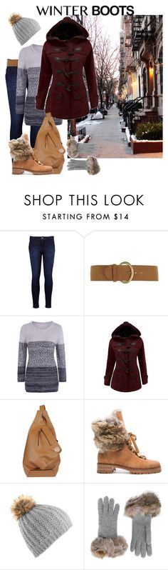 """""""Early Morning Winter Stroll"""" by leslie-aaron ❤ liked on Polyvore featuring Levi's, Dorothy Perkins, WithChic, Loewe, Alexandre Birman and Inverni"""