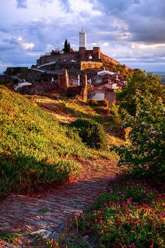Winding Path to Monsaraz, Alentejo, Portugal