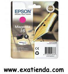 Ya disponible Cartucho Epson c13t162340 magenta    (por sólo 14.95 € IVA incluído):   - Compatible con impresoras Epson: Epson Workforce WF-2010W Epson Workforce WF-2510WF Epson Workforce WF-2520NF Epson Workforce WF-2530WF Epson Workforce WF-2540WF  - Color: Magenta -3.1ml, 165 páginas, estándard          Garantía de fabricante  http://www.exabyteinformatica.com/tienda/2065-cartucho-epson-c13t162340-magenta #epson #exabyteinformatica