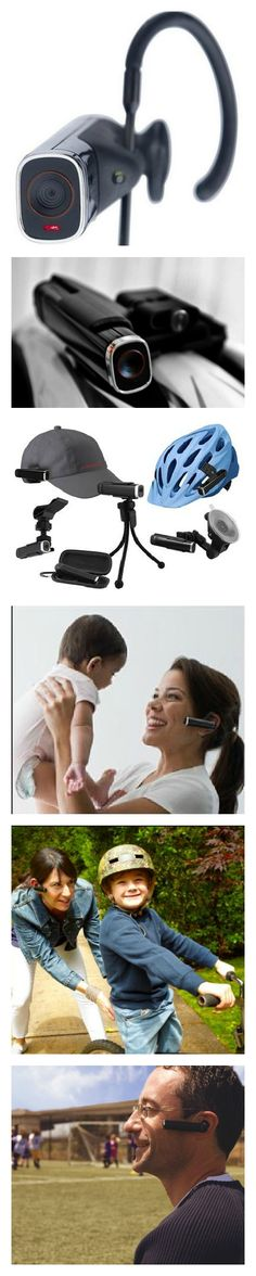 The Looxcie LX2 is a wearable hands free video camera that is designed to work with either an Android or iOS smartphone. It connects to the smartphone via Bluetooth and uses the phone's internet connectivity for sharing videos LIVE online. $99 [http://FuturisticSHOP.com/category/wearable-video-cameras/]