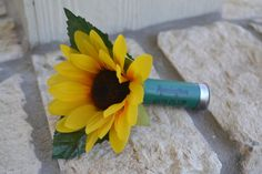 Hey, I found this really awesome Etsy listing at https://www.etsy.com/listing/185858468/sunflower-boutonniere-silk-wedding