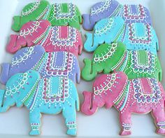 Favors: Pink Elephant Cookies