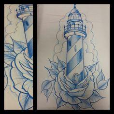 #leuchtturm #leuchtturmtattoo #tattoosketch #rose #lighthouse #lighthousetattoo