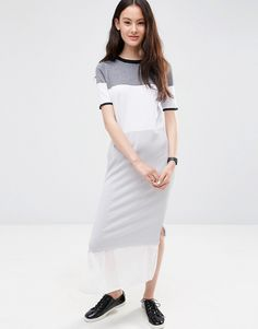 ASOS+Knitted+Column+Dress+in+Colour+Block