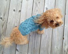 Hand-knit washable wool Fisherman Dog Sweater by Charliecloset $ 80.00