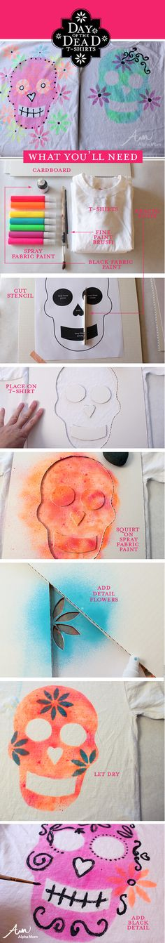 Day of the Dead T-Shirt Tutorial #DiaDeLosMuertos