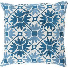 Bloem Pillow in Teal & Slate