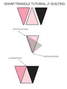 Triangle Quilt Pattern Update: How to get Sharp Triangles - see kate sew