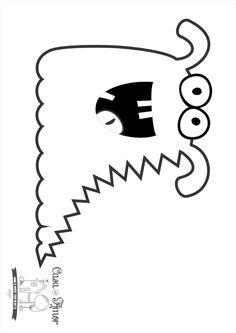 monstro para colorir 5