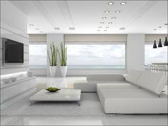 Белый дизайн интерьера, смешанный с Фэн-Шуй