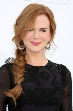 Nicole Kidman elegant braid hairstyle