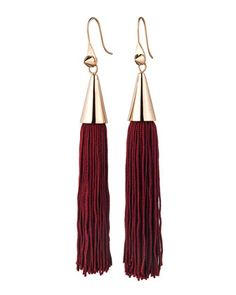 Rose Gold Plated Small Silk Tassel Earrings, Bordeaux by Eddie Borgo at Bergdorf Goodman.