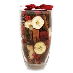 Nature's Inspirations Glass Vase Potpourri in Cinnamon Apple - BedBathandBeyond.com