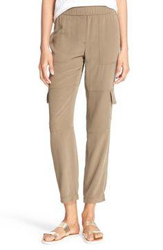 Theory 'Hamtana' Silk Cargo Pants available at #Nordstrom