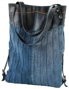 Denim and Recycled Rubber Tire Bag