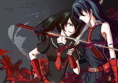 Pixiv Id 12803423, Akame ga Kill!, Akame (Akame ga Kill!), Kurome (Akame ga Kill!), Hime Cut, Blunt Bangs
