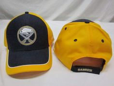 BUFFALO SABRES REEBOK EMBROIDERED ADJUSTABLE OSFA CAP HAT FREE SHIPPING