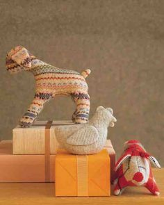 These petite stuffed animals -- a fair isle lamb, a cable-knit chicken, and an argyle pig -- are so cuddly and simple to make, you'll want an entire farm.
