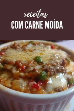 Carne Picada, Pasta, Cheeseburger Chowder, Food And Drink, Low Carb, Soup, Cooking Recipes, Meat, Roast Recipes