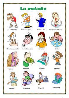 La maladie fiche d'exercices - Fiches pédagogiques gratuites FLE