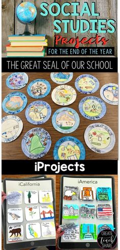 Social studies projects for the end of the year. Perfect for upper grade classrooms! social studies Social Studies Projects for the End of the Year - Create Teach Share 3rd Grade Social Studies, Social Studies Classroom, Social Studies Activities, Teaching Social Studies, Elementary Social Studies, Social Studies Projects 5th, Teaching History, Social Studies For Kids, 4th Grade Activities