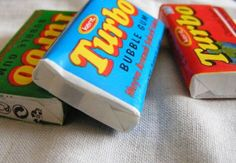 """""""Turbo"""" chewing gum and hungarian soft drinks """"Bambi"""" Chewing Gum, Bubble Gum, Childhood Memories, Bubbles, Candy, Drinks, Bottle, Poland, Bambi"""