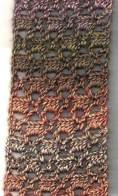 Bricks & Lattice Scarf: free crochet pattern