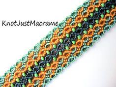 Macrame Jewelry, Macrame Bracelets, Ankle Bracelets, Salvia, Anklet Designs, Diy Friendship Bracelets Patterns, Micro Macramé, Necklace Extender, Chunky Beads