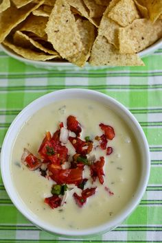 """Cowboy Queso served at Kerby Lane Cafe-Style in Austin is """"not just any queso"""".  Buried at the bottom of the bowl is 1/2 of Guacamole!  WOW, what a unique idea."""