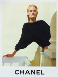 "lelaid: "" Amber Valletta by Karl Lagerfeld for Chanel S/S 1996 """