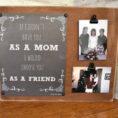 Make this easy DIY Mother's Day Photo Clip Board for the special women in your life this year! Diy Crafts For Gifts, Homemade Crafts, Oil Rubbed Bronze Paint, Mother Day Gifts, Gifts For Mom, Mother's Day Photos, Mother's Day Diy, Old Games, Easy Projects